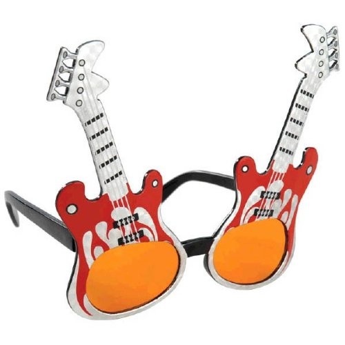 Party Ready Rock Star Guitar Funshades Accessory  Plastic  Standard Size