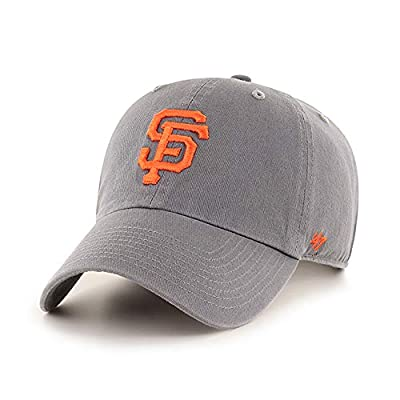 '47 Brand San Francisco Giants Clean Up Hat Cap Dark Gray/Orange