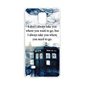 Custom Doctor Who Tardis Police Call Box Quotes Case for Samsung Galaxy Note 4