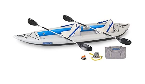 Mar Eagle Fast Track inflable Kayak con Deluxe - Paquete de accesorios, 12
