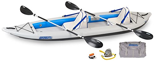 Sea Eagle Fast Track Inflatable Kayak with Deluxe Accessory Package, 12' x 6