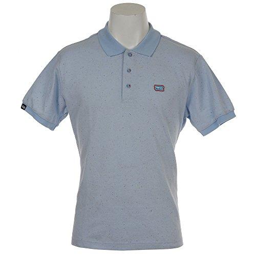 陪審歌ペインティングロサーセン ゴルフウェア ポロシャツ 半袖 カラーネップカノコポロ 044-27342 91ターコイズ 52(O)
