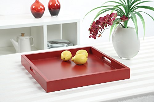 (Convenience Concepts Palm Beach Serving Tray, Red)