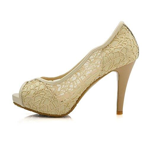 Sandalias para Adee vestir Beige mujer de dw6qTwFx8