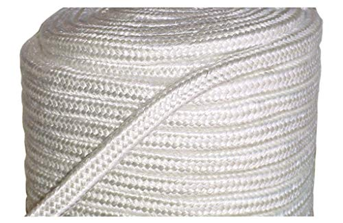 MinGlas Rope Seal - Fiberglass Square Braided Rope Gasket 1'' x 25 feet, Firm High-Density, Stove Boiler Furnace Oven Kiln Door Seal Gasket by MinGlas (Image #1)