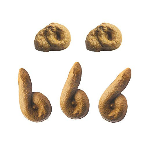 Bonng Pack of 5 Fake Poop Realistic Prank Funny Poop Toys for Joke Trick Halloween April Fool 's Day Party Look Real Link Realistic Gross Party Poop Mischief Novelty Toys]()