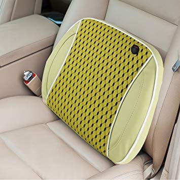 Uniqus Car Family Back Waist Electric Vibration Massage USB Charging Pillow Mat (Matcha)