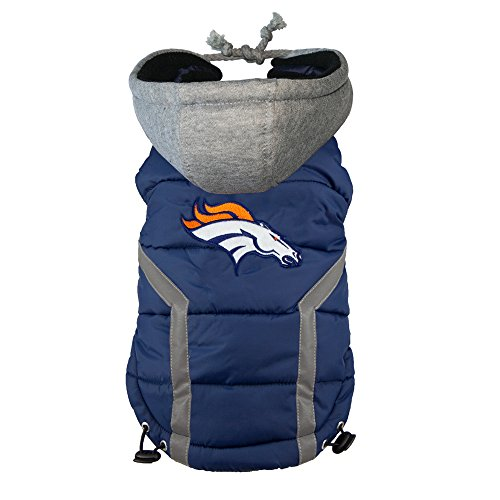 NFL Denver Broncos Dog Puffer Vest, Small