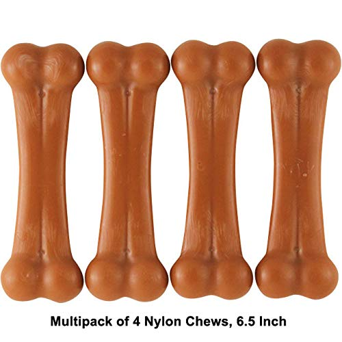 Pet Qwerks Flavor Farms Chew Toys – Multi Pack – Tough Nylon Bones for Power Chewers | Made in USA, 100% Premium Nylon…