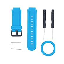 Replacement Silicone Watch Band Sports Strap Bracelet For Garmin Forerunner 225 (Blue)