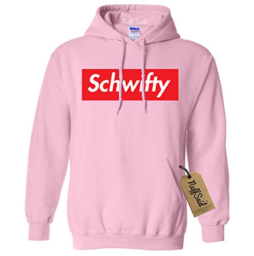 Comfy Sweater Hooded (NuffSaid Let's Get Schwifty Premium Hooded Sweatshirt - Unisex Hoodie (XLarge, Light Pink))