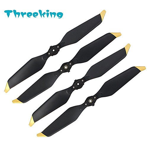 Mavic Pro Low-Noise Propellers Threeking Blades Quick-Release Propellers Special Design for DJI Mavic Pro/DJI Mavic Pro Platinum (2 Pairs)