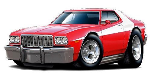 (1976 Torino Starsky Car WALL DECAL Vintage 3D Car Movable Stickers Vinyl Wall Stickers for Kids)