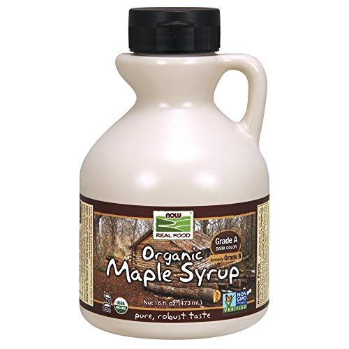 (NOW Foods Organic Maple Syrup, Grade A, Dark Color (formerly Grade B), 16-Ounce)