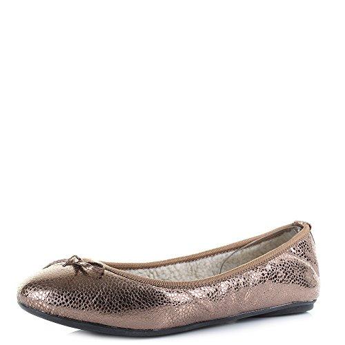 Kvinners Metallic Sommerfugl Gull Antikk Vendinger Sko Flat Ballerina Penelope qzxCBO