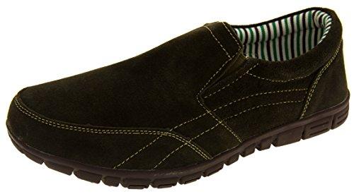 Coolers BF720 Cuir Daim Décontracté Chaussures de Sport Mocassins Femmes Vert