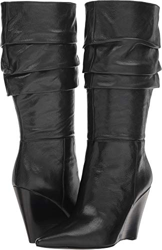 Nine West Women's Vernese Black Leather 8.5 M US