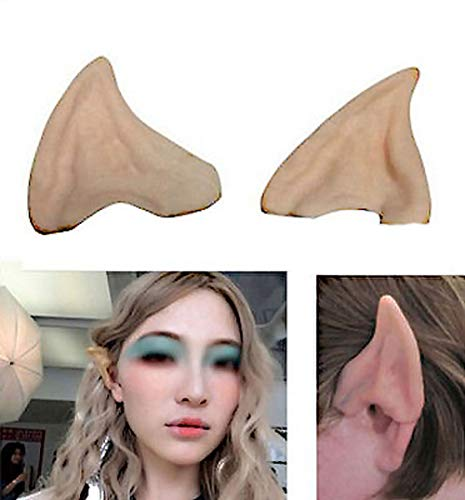 (Elf Ears, Latex Fairy Elven Ears Soft Pointed Prosthetic Ear Soft Pointed Prosthetic Tips Ear for Cosplay Accessories, 2)