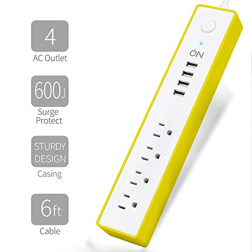 4 Outlet Ul Power Strip - 6