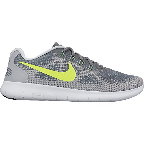 Nike Free RN 2017 sz 11 Cool Grey/Volt/Wolf Grey/Ghost Green Men's Running Shoes