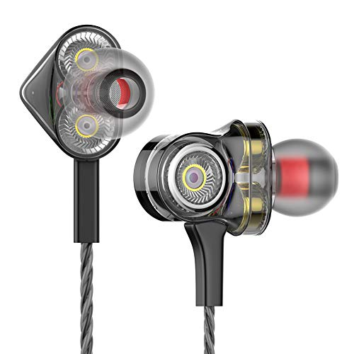 TNSO in-Ear Headphones Earbuds High Resolution Heavy Bass with Mic for Smart Android Cell Phones Samsung HTC Lg G4 G3 Mp3 Mp4 Earphones