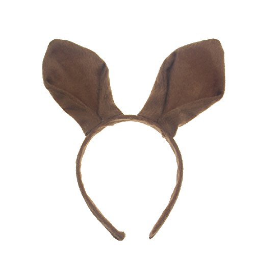 - Pagreberya Bunny Ears Headband - Brown Bunny Ears - Rabbit Ears - Halloween Christmas Easter Party Costume