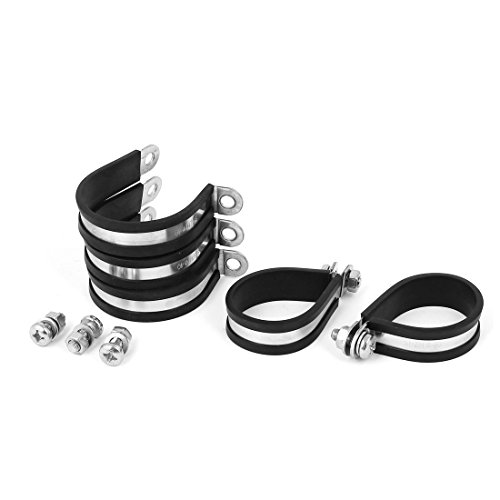 uxcell 40mm P Clips EPDM Rubber Lined Mounting Bracket 5pcs for Pipe Tube Cable by uxcell