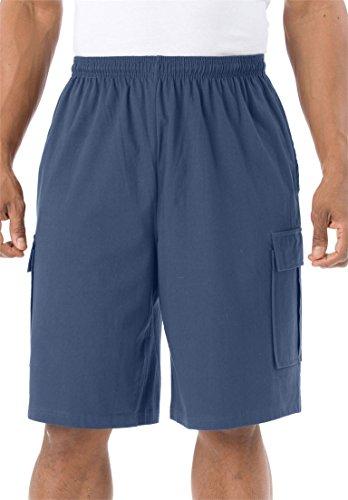 KingSize Men's Big & Tall Lightweight Cargo Shorts, Crown Blue Tall-4Xl