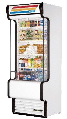 True Vertical Air Curtain - True TAC-30GS Vertical Air Curtain Open Display Merchandiser
