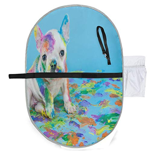 SLHFPX Changing Pad Silly French Bulldog Baby Diaper Urine Pad Mat Great Toddler Children Bed Wetting Pads Sheet for Any Places for Home Travel Bed Play Stroller Crib Car