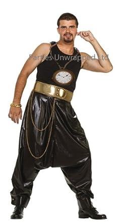 Amazon Com 80s Hip Hop Rapper Fancy Dress Pants Giant Clock