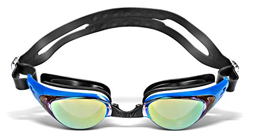 0237ec3249a wave Swim Goggles  SHARK Series  Mirror Coated   Scratch Resistant Lens