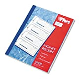 TOPS® Carbonless Money Receipt Book, Four 2 3/4 x 7 1/4 Receipts per Page BOOK,RCPT,4UP,CBNLS,TRI1C (Pack of8)