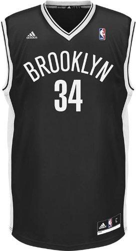 084d0f5d3 Paul Pierce Brooklyn Nets Adidas Revolution Replica Jersey - Black ...