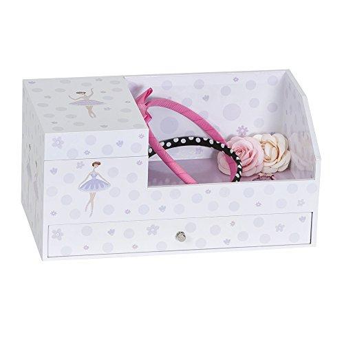 (Mele & Co. Bethany Girl's Musical Ballerina Jewelry Box & Organizer (Ballerina & Polka Dot Design))