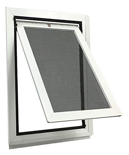 11 Sliding Screen Door - Security Boss Universal Pet Screen Door (Bug Proof Seal, Aluminum Frame, Scratch Resistant) for Sliding & Swinging Screen Doors