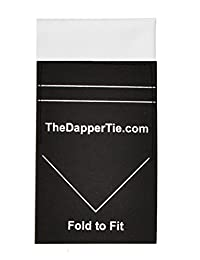 Men's Cotton Extra Thick Flat Pre Folded Pocket Square on Card (White)