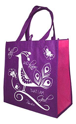 Divinity Inspirational Reusable Shopping Purple