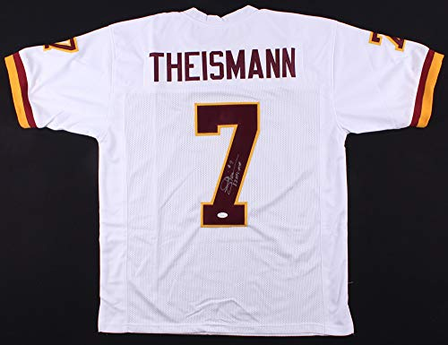 Joe Theismann Autographed White Washington Redskins Jersey - Hand Signed By Joe Theismann and Certified Authentic by JSA - Includes Certificate of Authenticity - Inscribed 83 NFL MVP (Theismann Jersey)