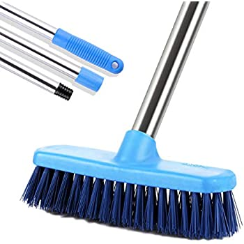 MEIBEI Floor Scrub Brush with Adjustable Long Handle-47.3