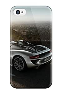 For Iphone 4/4s Tpu Phone Case Cover(porsche 918 Spyder 30)