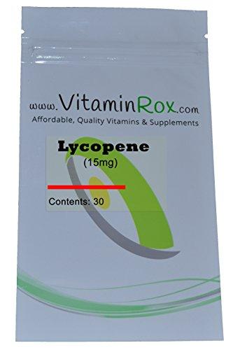 Lycopene 15mg Capsules Resealable VitaminRox