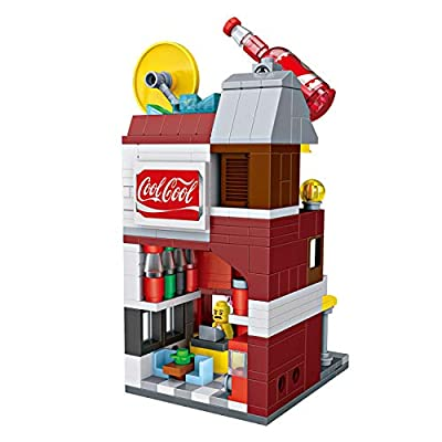 LOZ Cocacola Shop NO.1622 Mini Construction Building Micro Blocks Compatible Nano Chistmas Bithday Gifts for Kids DIY Figures Assemble Educational Toys Model Kits: Toys & Games