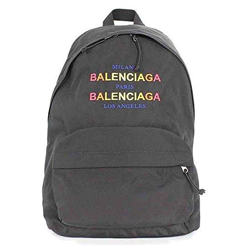 (バレンシアガ) BALENCIAGA 【18SS】【503221 9D0V51080】ロゴ刺繍ナイロンリュックバックパック(ブラック) B07DPL1C3N