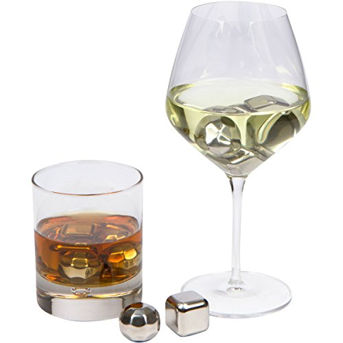 xummit whiskey stones set of 8 stainless steel whiskey