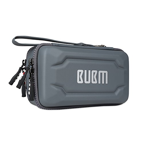 BUBM Eva Electronic Accessories Organizer Case, Travel Gadget Bag with Handle, Perfect for Cables, USB Drives, Batteries, memory cards (Single Layer (Card Gadget Bag)