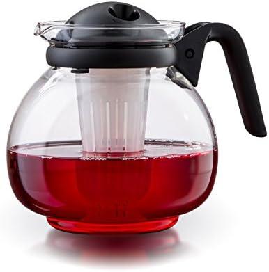 Boral Palma - Tetera (apta para microondas, cristal, 1,5 L, con ...