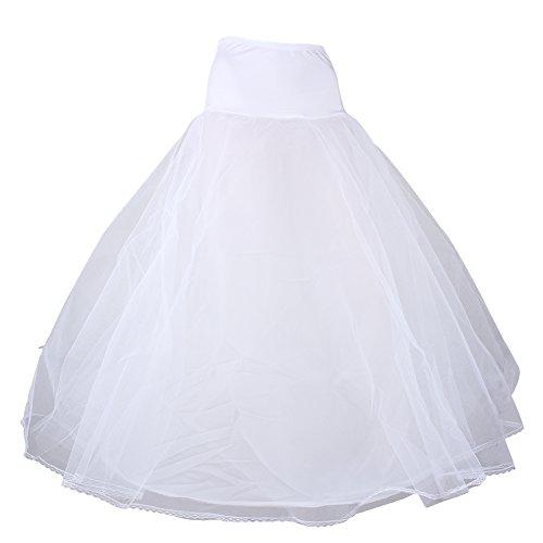Gauze Bridal Crinoline Petticoat, Women's A-line 1-Hoop Bridal Wedding Petticoat Lace Edge Crinoline Underskirts Dress