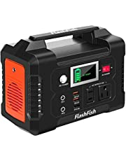 Portable Power Station, FlashFish Solar Generator with 110V AC Outlet/DC Ports/USB Ports/PD-Type-c/Car Port, Backup Battery Pack Power Supply for CPAP Outdoor Advanture Load Trip Camping Emergency.
