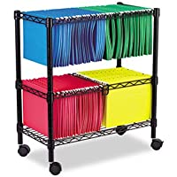 ALEFW601426BL - Best Two-Tier Rolling File Cart